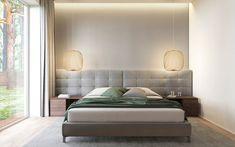 "Modern bedroom interior ""SoftGrey"" by Need Design Home Bedroom, Modern Bedroom, Master Bedroom, Bedroom Ideas, Home Interior, Interior Architecture, Interior Design, Sweden House, Bed Back"