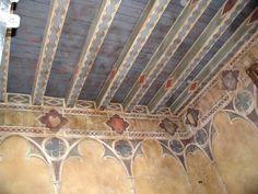 Decorazione medioevale in una camera delcastello di bevilacqua, Verona