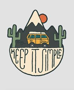keep it simple // travel // sticker // love