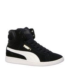 new style c9435 56eb2 Hippe Puma sneakers Vikky Mid Wn`s (Zwart wit) Sneakers van het merk Puma  voor Dames . Uitgevoerd in Zwart wit gemaakt van Suede rubber.