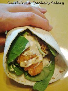 kraft recipe chicken wrap; substitute fried chicken for grilled