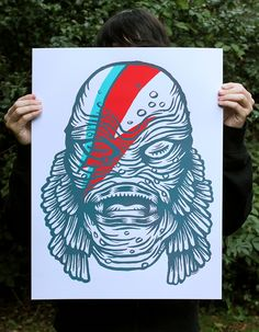 Bowie Creature by Victor Melendez, via Behance  You can see some pictures of the process over at my blog  http://victormelendez.wordpress.com/2013/10/08/steamroller-smackdown-2013/    You can also purchase a copy at my store http://victormelendez.bigcartel.com