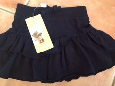 Dymples Size 0 Black Brand New With Tags Baby Girl Skirt