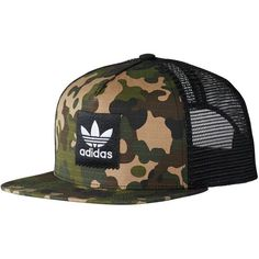 fdad065558988 Adidas Camo Trucker Hat ( 25) ❤ liked on Polyvore featuring accessories