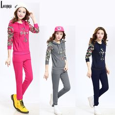 Aliexpress.com : Buy 2014 New Arrival Floral Tracksuits for Women Winter Fleece Hoodies Sweatshirt Winter Sports Cotton Outerwear Trousers 2pcs Set from Reliable Hoodies & Sweatshirts suppliers on Lossgaga Co,.LTD