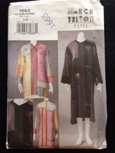 Vogue-Marcy-Tilton-Sewing-Pattern-Uncut-S-M-Wearable-Art-Jacket-Coat-7663