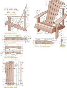 Free Adirondack Chair Plans Printable Download. Supplies for Adirondack Chair. 60 -1 1/2? deck screws 10 – 2? X 1/4? carriage bolts along with flat nuts ...