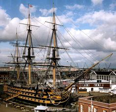 HMS Victory  Class: First Rate Ship of the Line   Launched: May 1765   At: Chatham, Kent England   Commissioned: February 1778     Length: 277 feet 6 inches   Beam: 52 feet   Draft: 25 feet   Displacement: 2,162 tons   Armament: 102 Guns (Cannon and Carronade)   Complement: 850