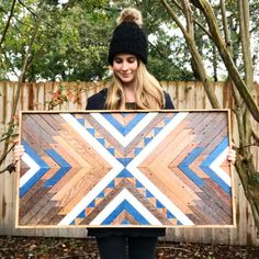 Wood Wall Art ~ Wood Art ~ Wooden Wall Art ~ Boho Home Decor ~ Geometric Wood Art