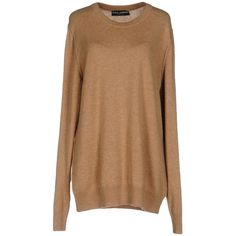 Dolce & Gabbana Sweater (9 760 ZAR) ❤ liked on Polyvore featuring tops, sweaters, camel, camel cashmere sweater, long sleeve sweater, camel sweater, beige top and cashmere top