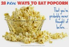 A week ago, I only put salt and butter on my popcorn. After reading these, I want to eat popcorn for a week straight so that I can try all of the ideas. YUM!!