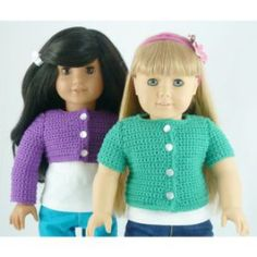 Classic Cardigan for American Girl Dolls & Other 18 inch Dolls | Crochet Pattern | YouCanMakeThis.com