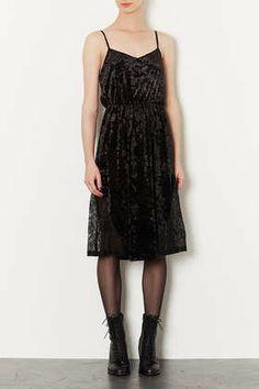 Velvet Lace Midi Slip Dress