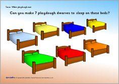 Snow White playdough mats (SB1687) - SparkleBox
