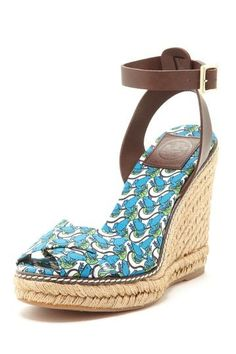 Tory Burch frog print wedge.  I have this in pink, adorable!