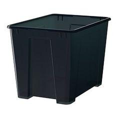 "SAMLA Box, black - 15 ¼x11x11 ""/6 gallon - IKEA"