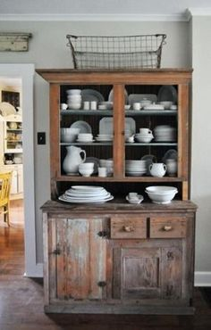antique cupboard via Heather Bullard by terri