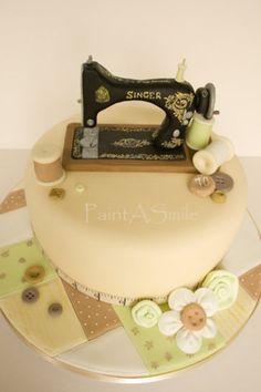 Singer Sewing Machine Cake  Cake by PaintASmile