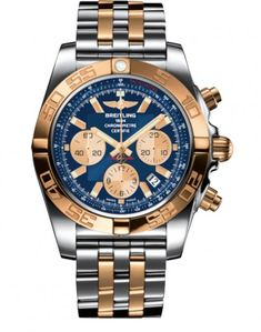d82dbf32bd9 Breitling Chronomat 44 CB0110121C1C1 Rose Gold and Steel Watch Replica