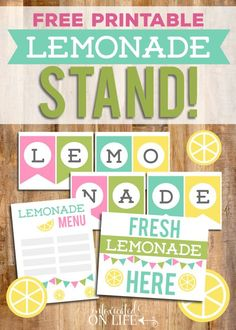 Homemade Lemonade with a Sugar-Free Option (and FREE Lemonade Stand Printables!)
