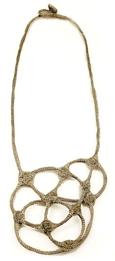 Ela Bauer Necklace: Untitled 2008 Coated copper-net