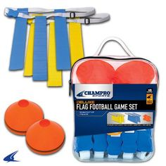 FOOTBALL FLAG AND CONE SET