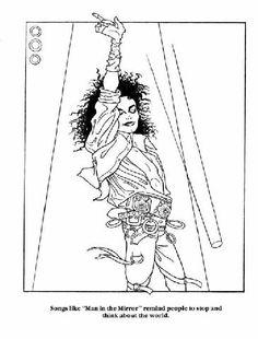 Rick Tulka Moonwalker Coloring Book 1988 Michael Jackson MJAPWNN DENoName