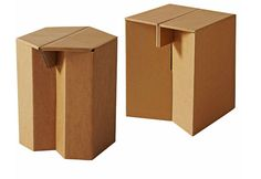 Cardboard furniture you can fold up by Karton