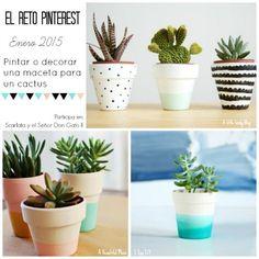 DIY: Macetas decoradas #elretopinterest   Manualidades Pots D'argile, Pot Jardin, World Crafts, Painted Pots, Green Life, Crafty Craft, Plant Decor, Flower Pots, Planting Flowers