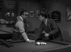 """Jonathan Winters and Jack Klugman star as two billiards players locked in mortal combat in the Season 3 episode """"A Game of Pool."""""""