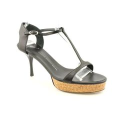 Giuseppe Zanotti Mira 50 New Open Toe Dress Sandals Shoes Black Womens