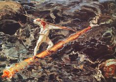 Akseli Gallen-Kallela the log floater