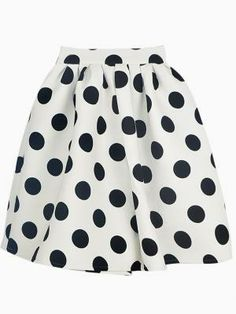 Very cute black and white polka dot skater skirt.