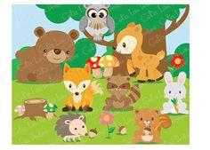 forest animals theme