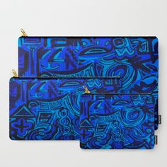 Blue symbols Carry-All Pouch