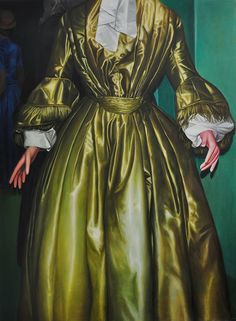 "Artist: KATHARINA ZIEMKE ""Untitled (Gown)"" Oil on Canvas 190 cm x 140 cm 2011"