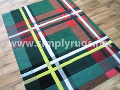 I love this tartan throw rug.
