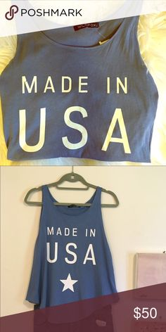 Wildfox Made in USA Tank Brand New. Unfortunately it was too big for me. Wildfox Made in USA Tank. Perfect for summer and 4th of July!!   Wildfox Tops Tank Tops