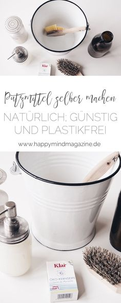 Never again to buy cleaning supplies: natural, cheap and plastic .- Nie wieder Putzmittel kaufen: Natürlich, günstig und plastikfrei So you can easily do all the cleaning agents yourself – of course, cheap and plastic-free! Diy Home Cleaning, Diy Cleaning Products, Deep Cleaning, Cleaning Hacks, Cleaning Supplies, Cat Supplies, Diy Hacks, Limpieza Natural, Genius Ideas
