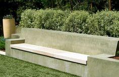 bancos y gradas de cemento
