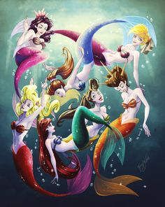 We are the daughters of Triton by Blatterbury.deviantart.com on @DeviantArt