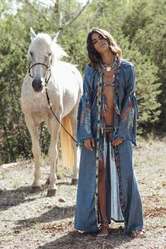 0f1ad10453 Let s go bohemian--Embroidered Split-joint Denim Outwear
