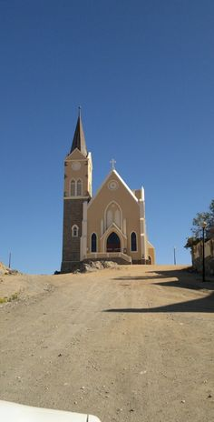 The Evangelical Lutheran Church in Luderits Namibia. Abandoned Churches, Old Churches, Land Of The Brave, Old Country Churches, Namib Desert, Lutheran, Place Of Worship, Kirchen, Martin Luther