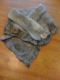 Elegant nuno felted button Cowl by SoftWorldScarfs on Etsy, $60.00