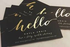 Sweet letterpress gold edge painted business cards for a wedding image result for personal business cards for networking reheart Images