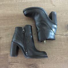 Sale❗️⬇️AllSaints Jules Heeled Boot •Color: Black  •An iconic AllSaints boot that can be worn season after season •Chelsea heeled boots crafted from soft Italian leather, hand finished for a sleek tailored look •Heel height: 10 cm, leg height: 9 cm, regular fitting, 100% cow leather, fully lined •Remove the decorative buckle strap for a second stylish look, as seen on Bahati Prinsloo •Made in Portugal, worn once for a short time  •Size US 7/UK 37 •🚫 trades/price negotiable All Saints Shoes…