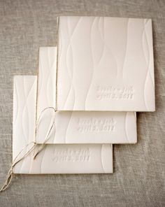 Sweetgrass Social Event & Design. Blind deboss, simple binding. #program #menu