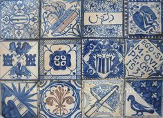 Antique reproduction ceramic tiles from Spain