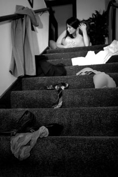 clickbw:  Click BW  No sense in waiting for the bedroom. If you're both naked, just do it on the stairs.
