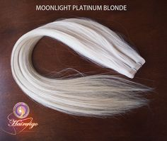 Tape hair extensions Straight 22  Color Moonlight Platinum Blonde by hairx on Etsy, $128.00